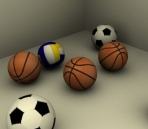 Basketball, soccer, volleyball 3D Models