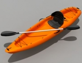 3D model of the orange canoe