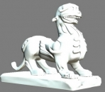 3D Model of auspicious animal Pi Xiu
