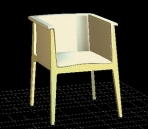 3D Model of sofa stool furniture 1-5 months