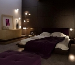 Purple style bedroom 3D model of
