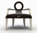 3D model of a modern European-style chairs