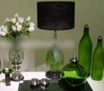Green glass art decoration