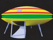 Space Flying Saucer Model