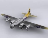 B-17 Flying Fortress bomber model