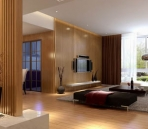 Bright and spacious living room design model