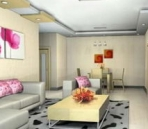 Colorful living room model