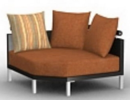 Upholstered round sofa
