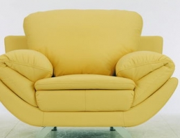 Yellow living room sofa