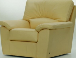 Milky white back cushion love seat