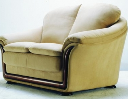 Solid color leather love seat
