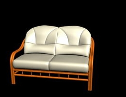 Conciseness White Love seat