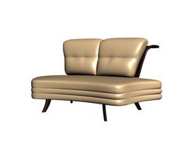 Conciseness backrest Love seat
