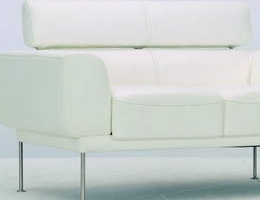 Pure white metal stabiliser sofa