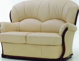 sector beige redwood sofa