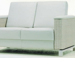 Pure white soft and snug love seat