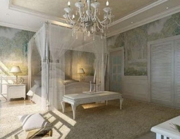 Pure White European style bedroom