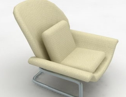 White soft armchair