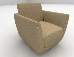Pin check armchair