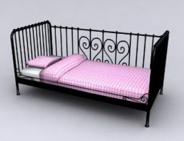 Black Matel Daybed Mattress Model