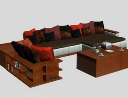 Luxurious modular sofa