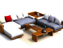 Luxurious modular sofa in living room