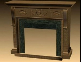 European conciseness fireplace