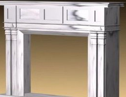 European fireplace