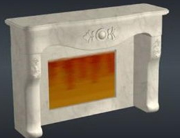European marble fireplace