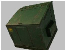 Green Dumpster Trash Dustbin