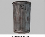 Garbage Can With Lid Silver