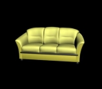 Beige leisure sofa 3d model