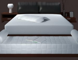 Pure white and Lenient bed