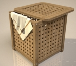 Wooden clothes storage box