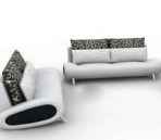 Pure white sofa complete set