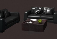 Boss leather sofa units