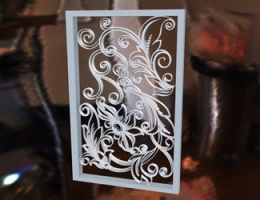 Carved Glass Construction