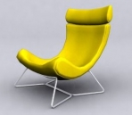Yellow Lounge-Sessel