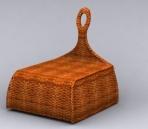 Woven bamboo chair