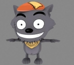Cute cartoon wolf