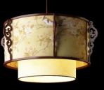 Lampe suspension de style chinois-4