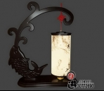 Chinese-style wooden lamp-2