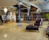 European-style hotel lobby