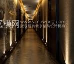 European-style hotel corridor
