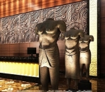 Personalized art hotel lobby