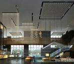Un gran espacio del vest¨ªbulo del hotel de estilo moderno