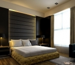 Darker color of the modern style bedroom