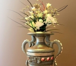 Retro vase flower arrangement