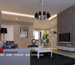 European modern style living room white tone