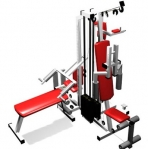 Combination of fitness equipment